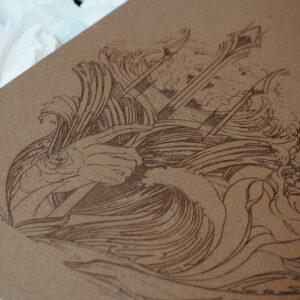 """""""Trident of Poseidon"""" Cognac by Maren Römer"""